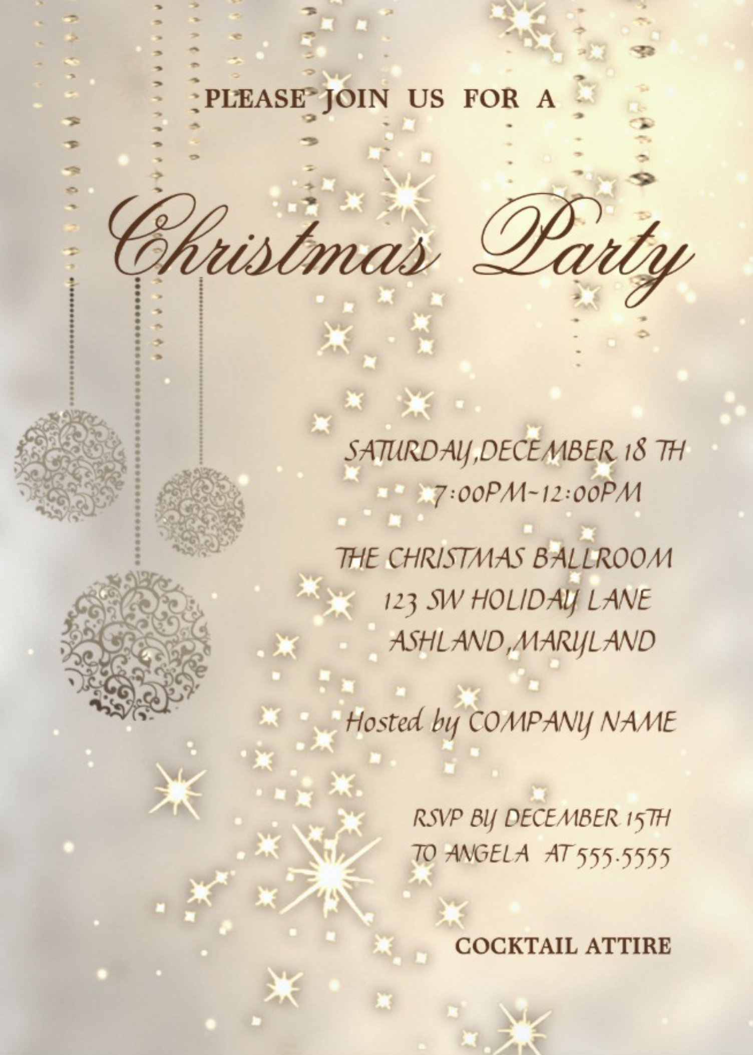 Christmas Party Invitation Zazzle