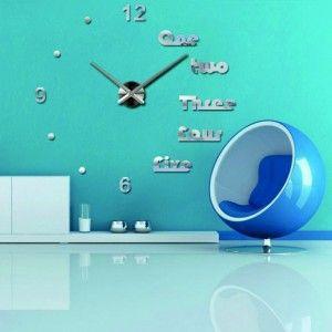 Veľké nástenné hodiny majka .Nálepka na stenu , zrkadlové .