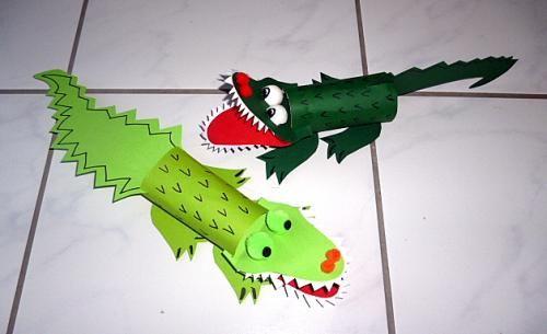 tiere krokodile aus papier rouleau de wc pinterest. Black Bedroom Furniture Sets. Home Design Ideas