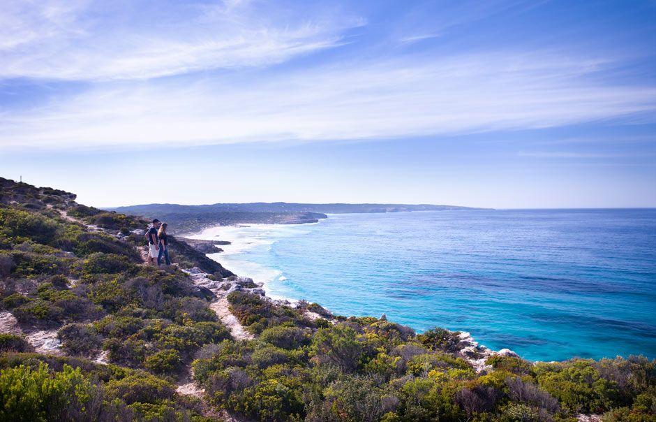 Clifftop Walk. Southern Ocean Lodge, Kangaroo Island, Australia. © Luxury Lodges of Australia