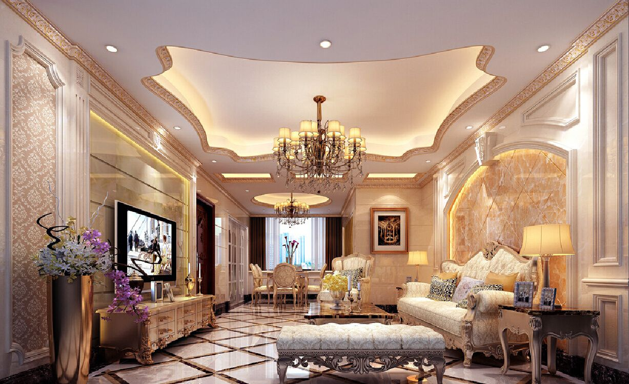 European Style Luxury Home Interior Decoration 2015 (1227×750) | ديكور  عرف معيشة كلاسيك | Pinterest | Fancy Houses, Entryway Decor And Ceilings