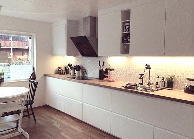 Voxtorp Double Units Preferable To Multiple Small Ones Ikea Kitchen Kitchen Interior Home Kitchens