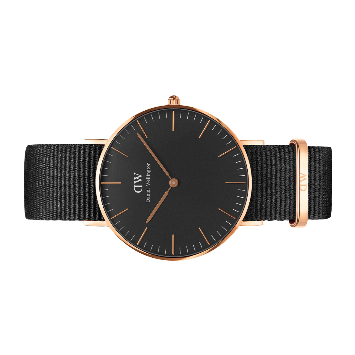 4822ce968edc Classic Black Cornwall 36mm Rose Gold Montre Daniel Wellington Noir