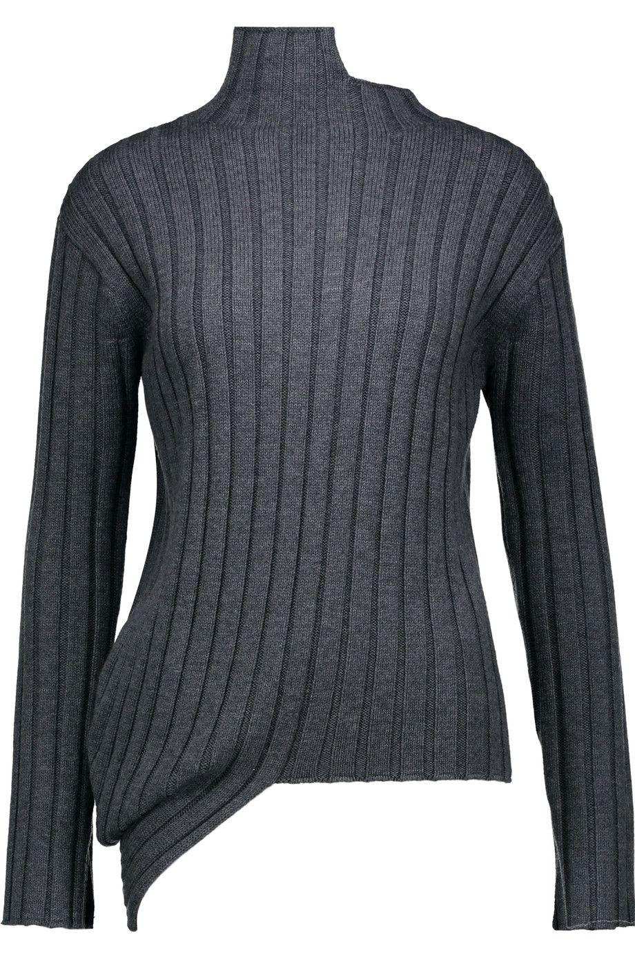 JOSEPH Asymmetric merino-wool sweater. #joseph #cloth #sweater