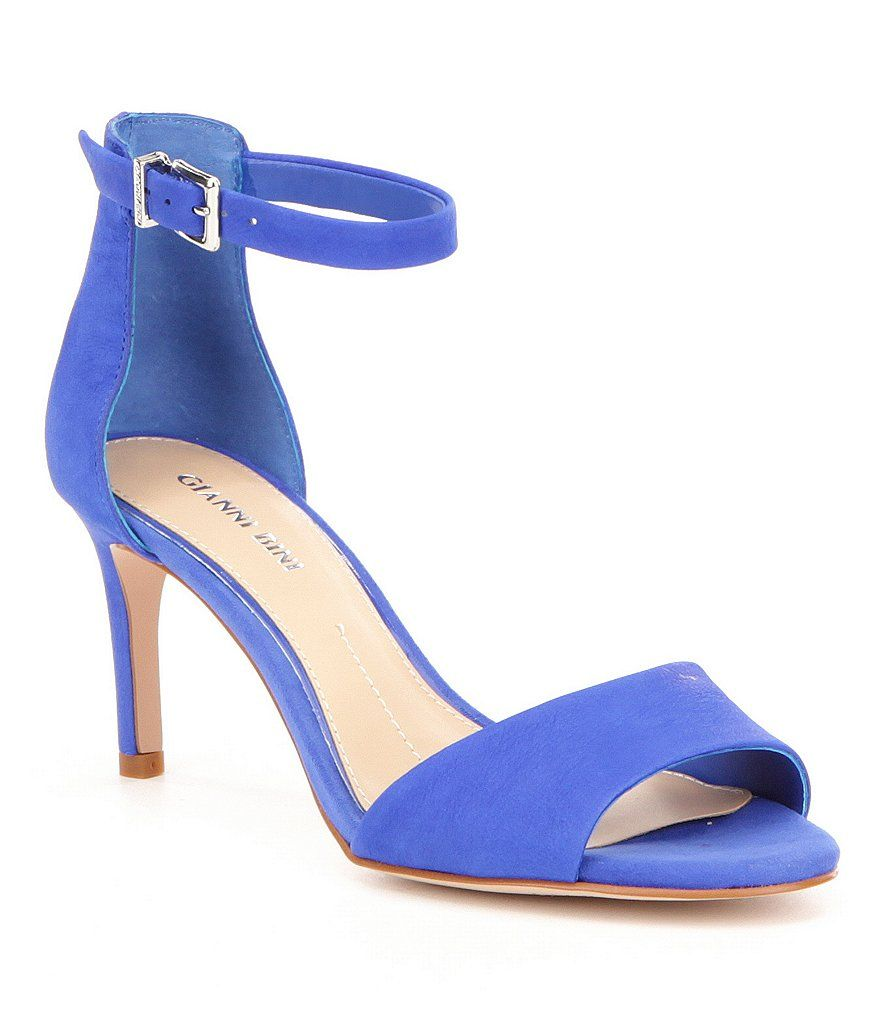Meria Buff Goat Leather Banded Ankle Strap Leather Dress Sandals 43nQp5E