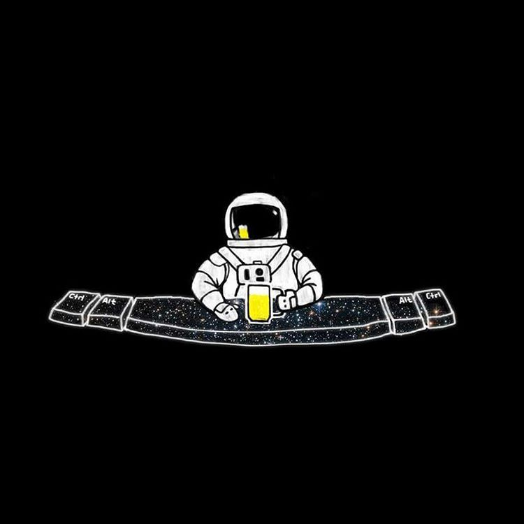 astronaut at the space bar - photo #4