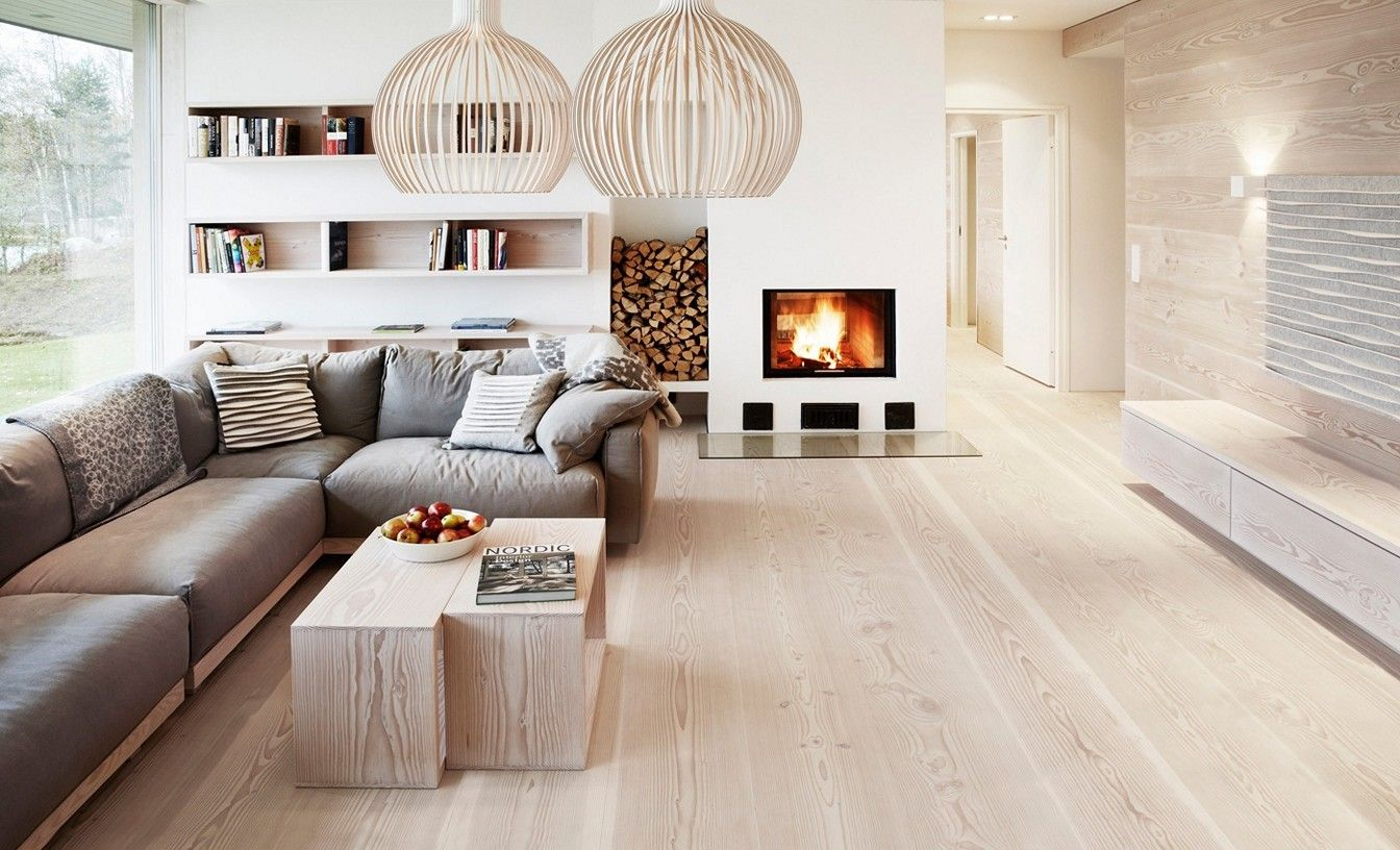 Light colored floors keep the space feeling open even with the 8 ...