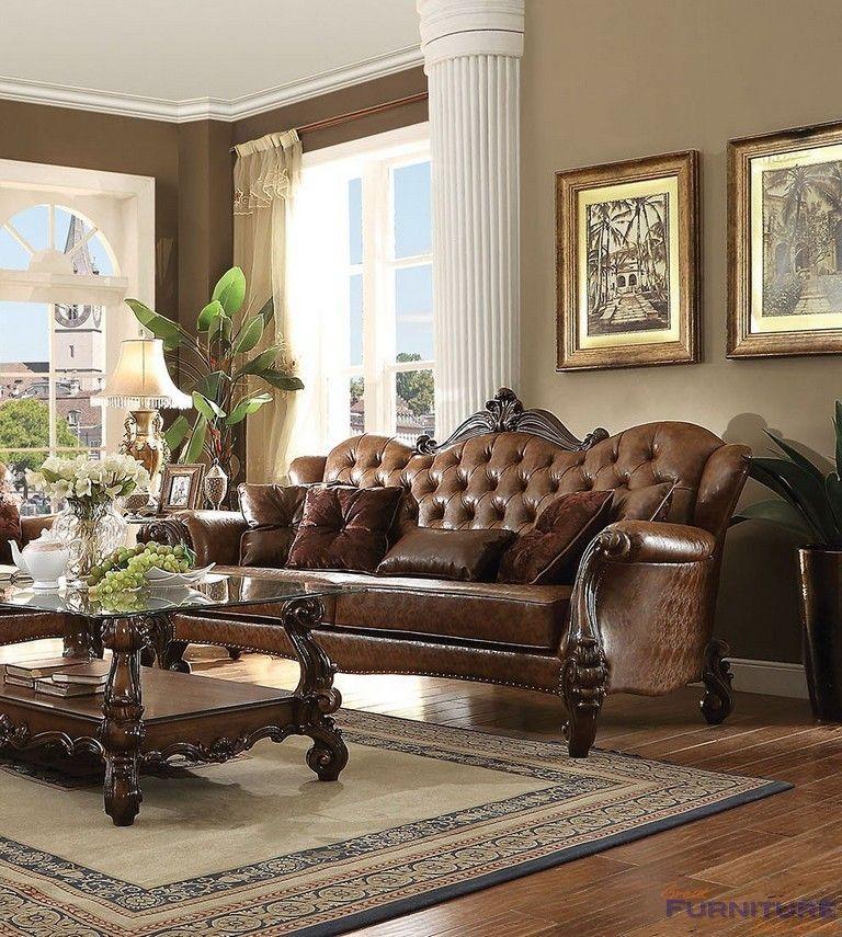 Acme Furniture Versailles Sofa With 5 Pillows 52100
