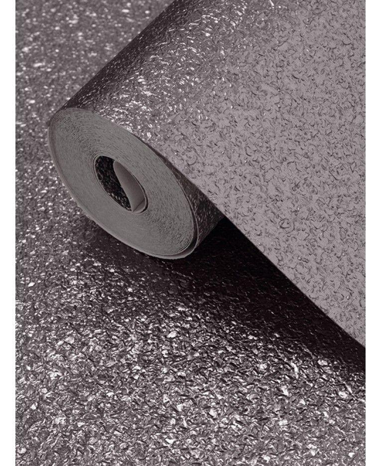 Textured Metallic Shimmer Wallpaper Gunmetal Grey Muriva