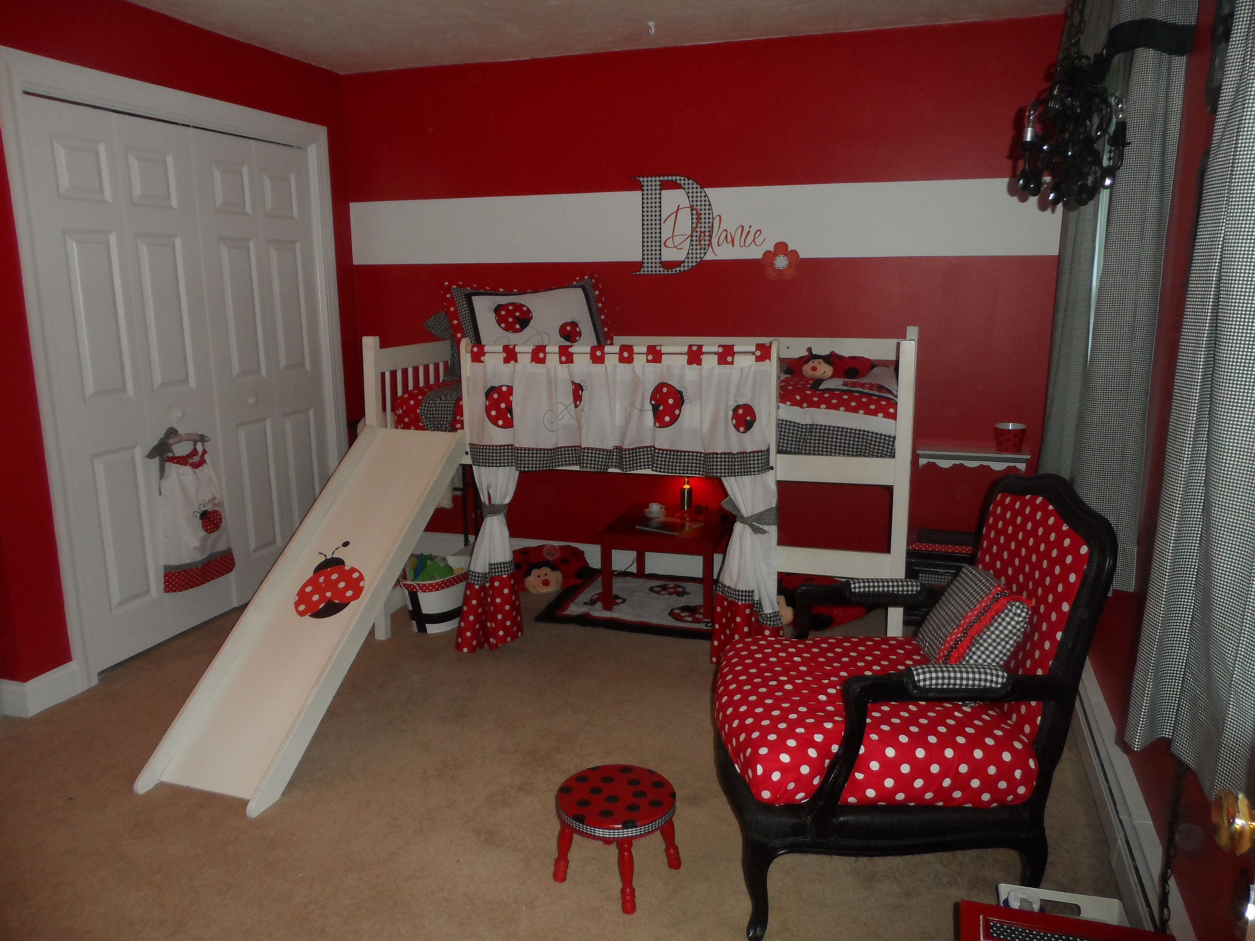 Ladybug Girl Bedroom  Ladybug house, Ladybug bedroom, Girls dream