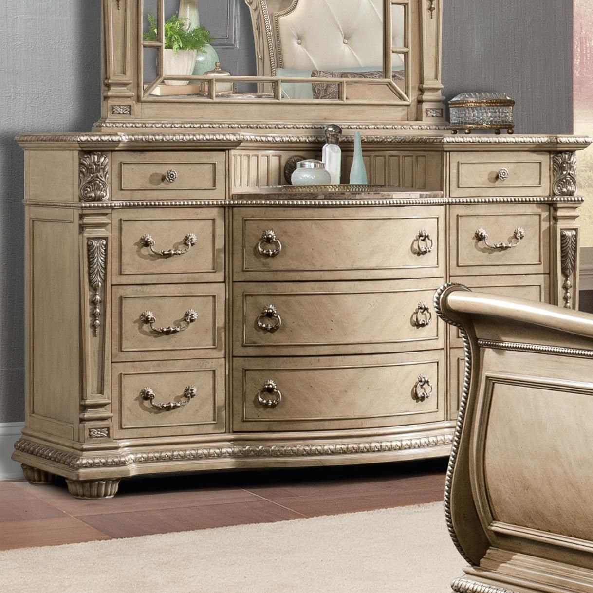 Davis International Monaco Traditional Bow Front Dresser With Eleven