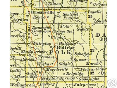 Old County Map Of Polk Co MO You Can See Bolivar Where Lewis - Maps of mo