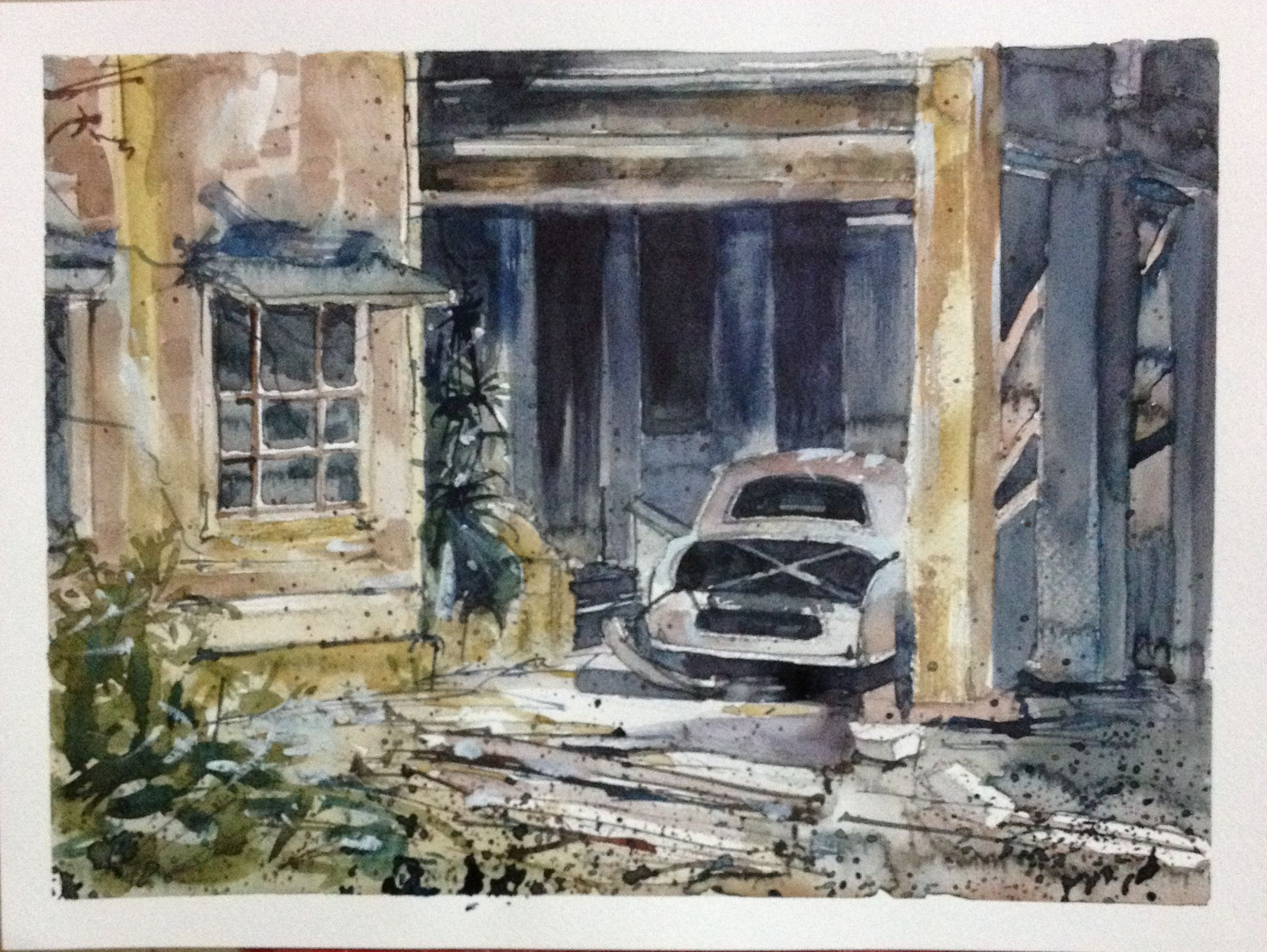 Abandoned House - watercolour by Sushanto