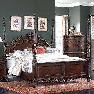 Astoria Grand Chalus Four poster Bed Size Queen Bed sizes and