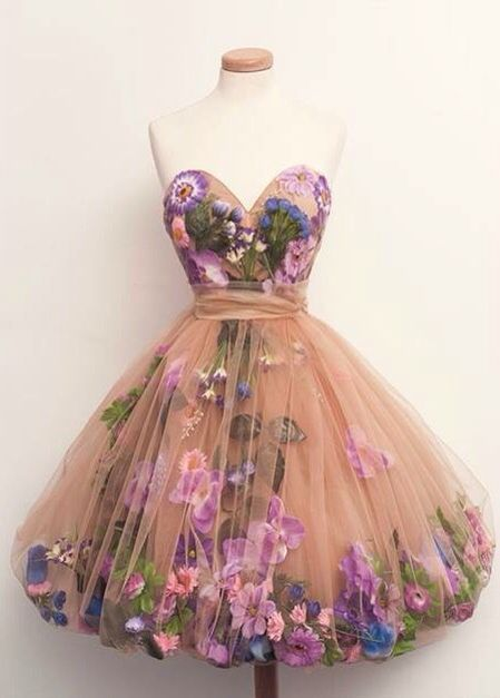 Tulle And Floral Fairy Gown 1950 S Inspired Mini Couture Assemblage Art Diy Inspiration P Dresses Pretty Homecoming Dresses Champagne Cocktail Dress