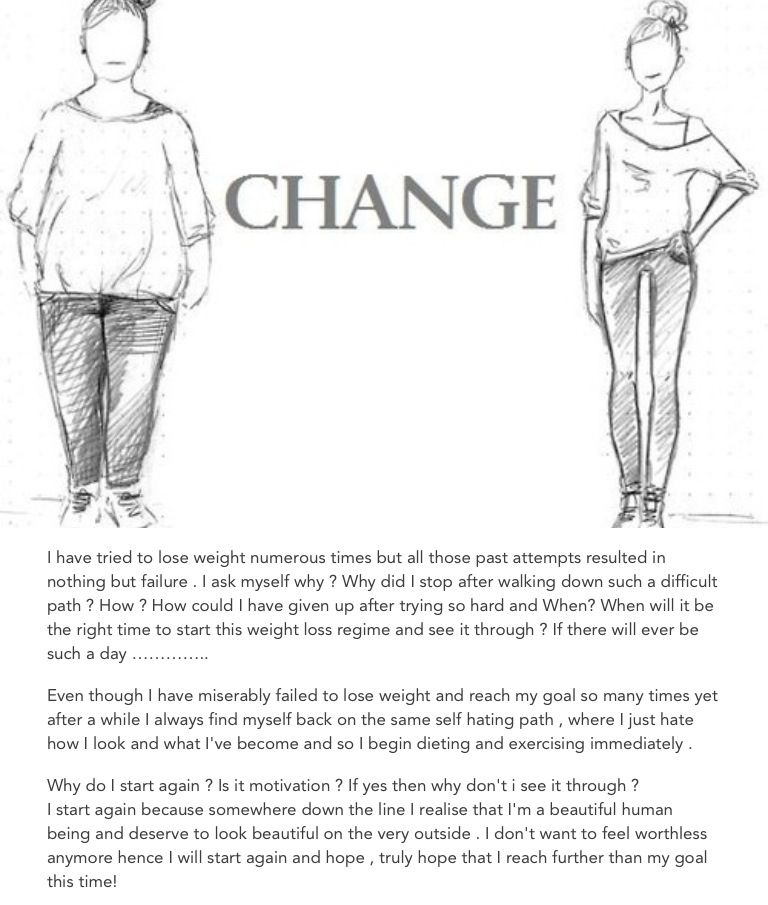 Lose weight and feel beautiful coz u deserve to