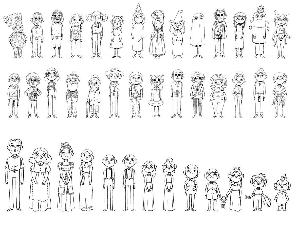 Personagens da minissérie Over the Garden Wall, por Mikkel
