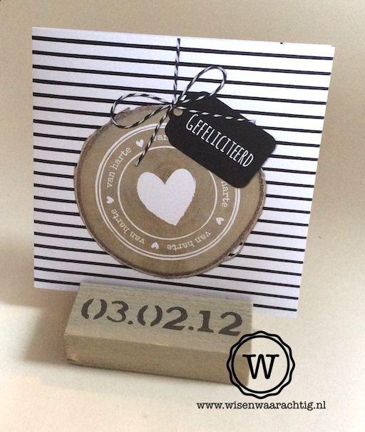 Kado Voor Een Houten Huwelijk Kaarthouder Met Datum En