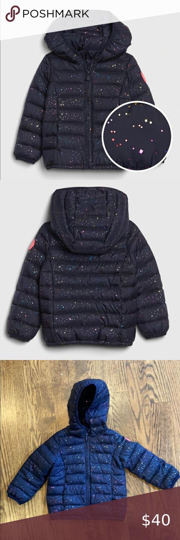 Gap Kids Toddler Cold Control Puffer 3t Navy Blue Girls Puffer Coat Toddler Winter Coat Pink Puffer Coat [ 1740 x 580 Pixel ]