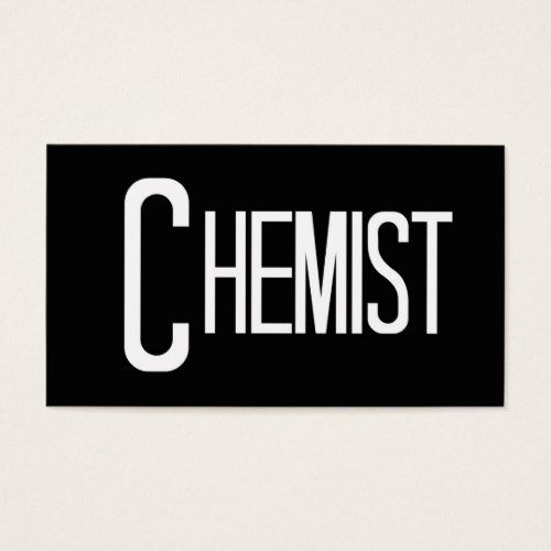 Chemist Word Business Card