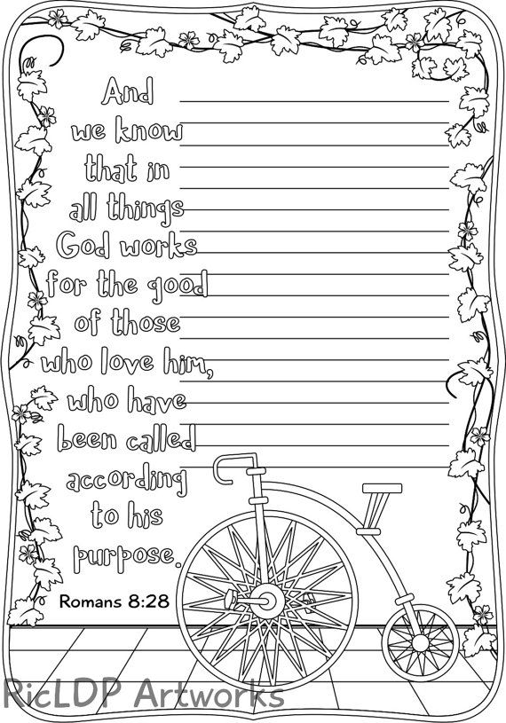 A Set of 5 Bible Coloring Journals for Grown-ups, Coloring Pages for ...