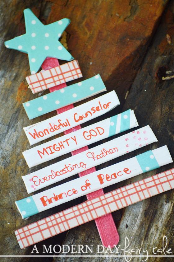 Names Of Jesus Christmas Tree Kids Craft More Ways To Teach Kids