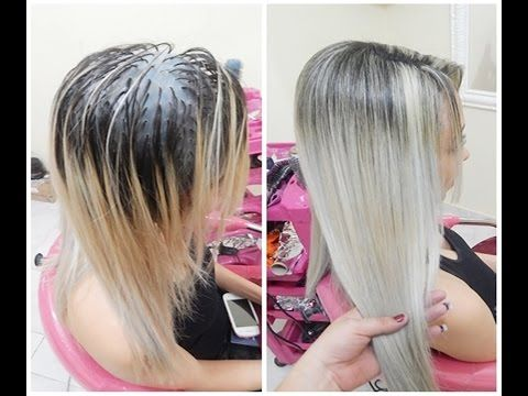Retoque De Mechas Platinadas Na Touca Sem Emborrachar Youtube