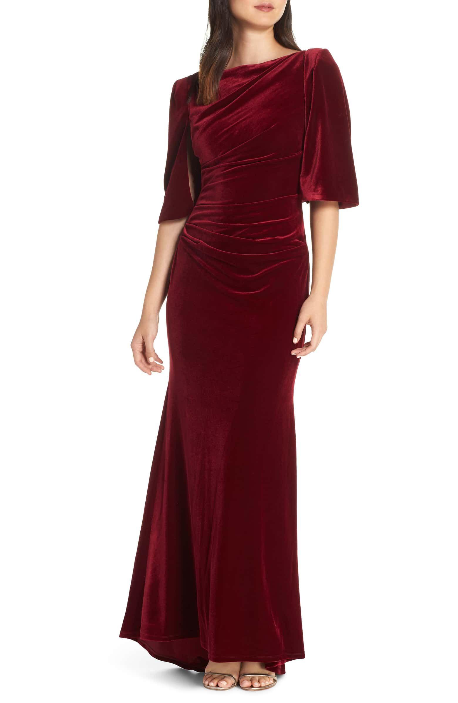 Smocked Waist Velvet Top Red Wine Velvet Tops Outfit Velvet Tops Top Outfits