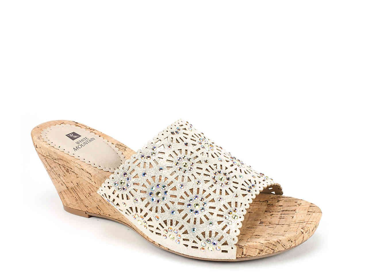 White Mountain Adira Wedge Sandal