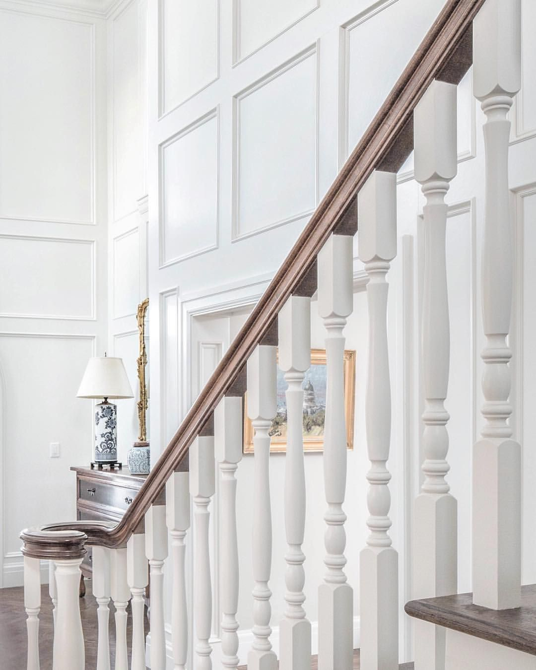 """1,224 Likes, 37 Comments - Tom and Cara Fox (@the_fox_group_) on Instagram: """"Stair and wainscoting details in a client's foyer. #thefoxgroup"""""""