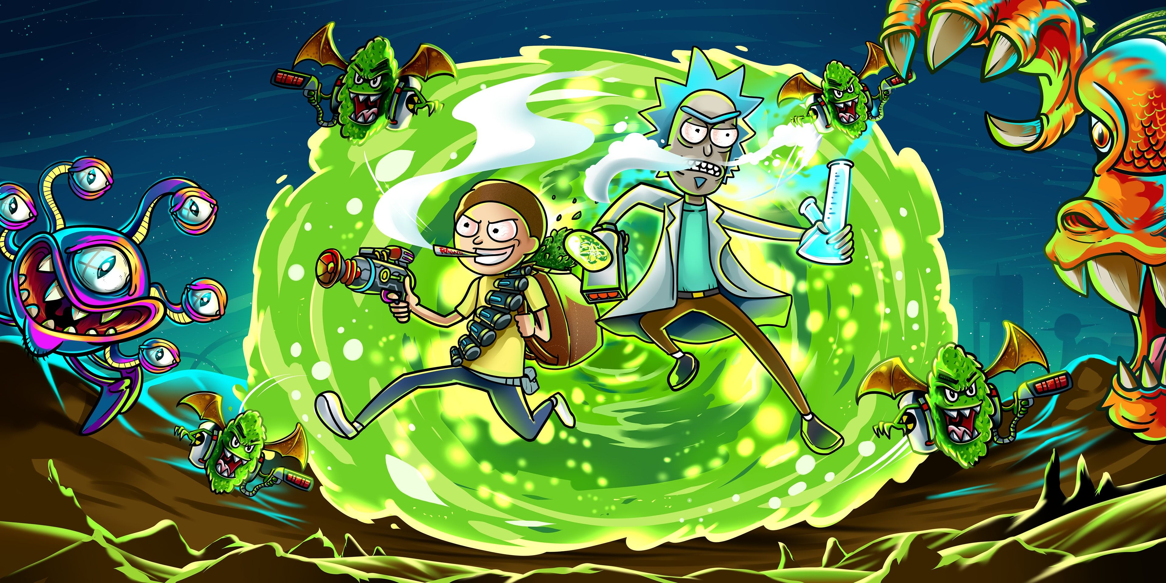 Rick And Morty Desktop Wallpapers 1920x1080 Wallpapers Trippy Trippy Computer Wallpaper Rick And Morty Wallpapers