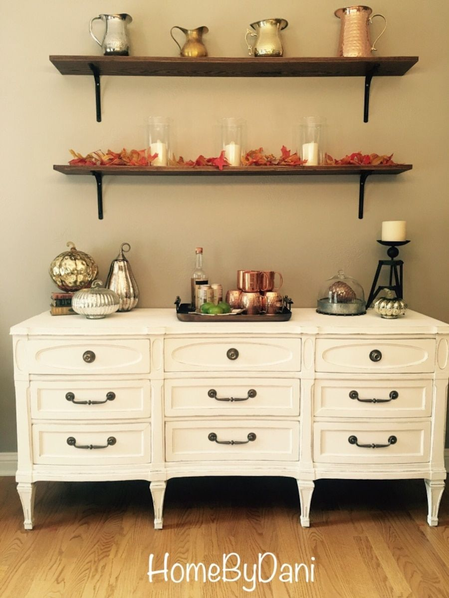 White Refinished Antique Buffetsideboard In Long Grove  Letgo Magnificent Antique Dining Room Hutch Decorating Design