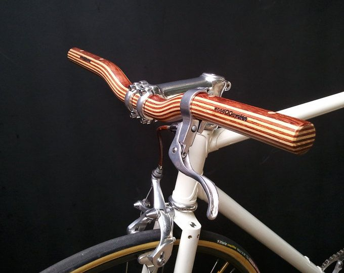 bubinga and ash wood curved bicycle handlebar unbedingt. Black Bedroom Furniture Sets. Home Design Ideas