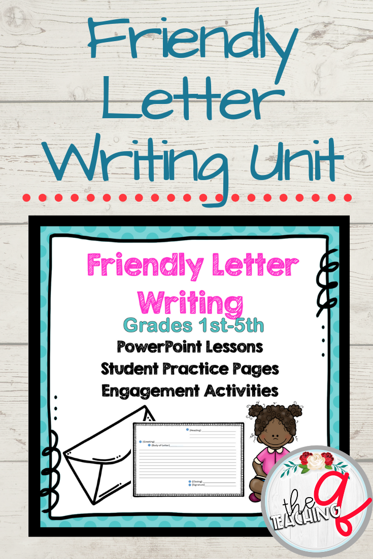 Friendly Letter Writing Unit Friendly Letter Writing Writing Mini Lessons Writing Lessons [ 1102 x 735 Pixel ]
