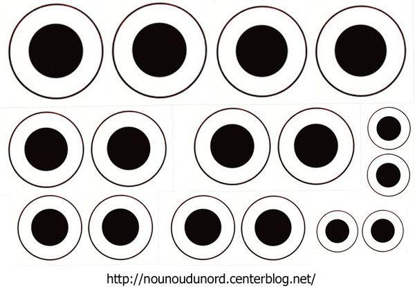 yeux imprimer pour vos activit s manuelles gabarit. Black Bedroom Furniture Sets. Home Design Ideas