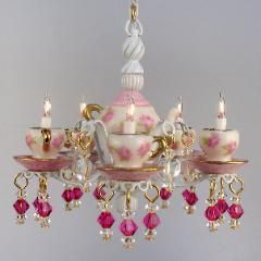J Getzan Dollhouse Miniatures Chandeliers Sconces Copperware