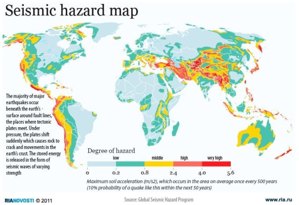Map That Shows Relative Risk... | Teaching Earth Science ...