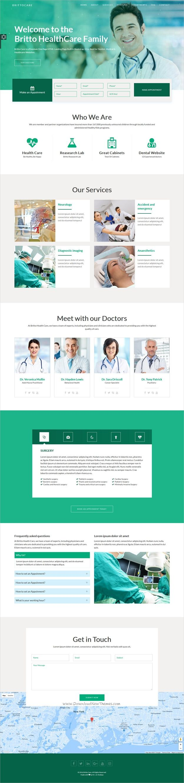 Brittocare responsive medical and healthcare template pinterest brittocare is a wonderful 2in1 responsive html5 bootstrap template for medical health center dentists or pharmacies websites download now maxwellsz