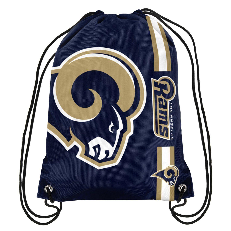 51aad1f35a NFL Football Drawstring Backpack Gym Back Pack Sack Bag Tote Striped Big  Logo