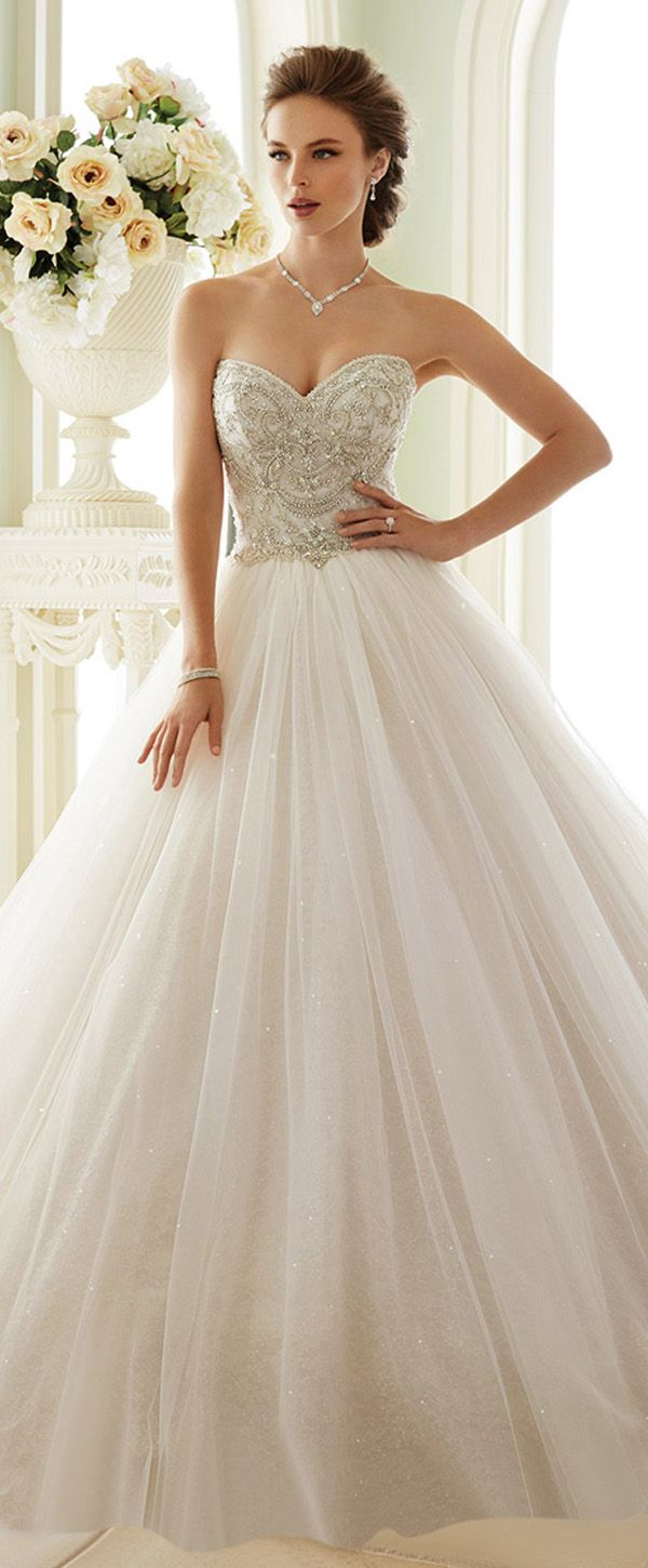 Fabulous Tulle Sweetheart Neckline Ball Gown Wedding Dresses With ...