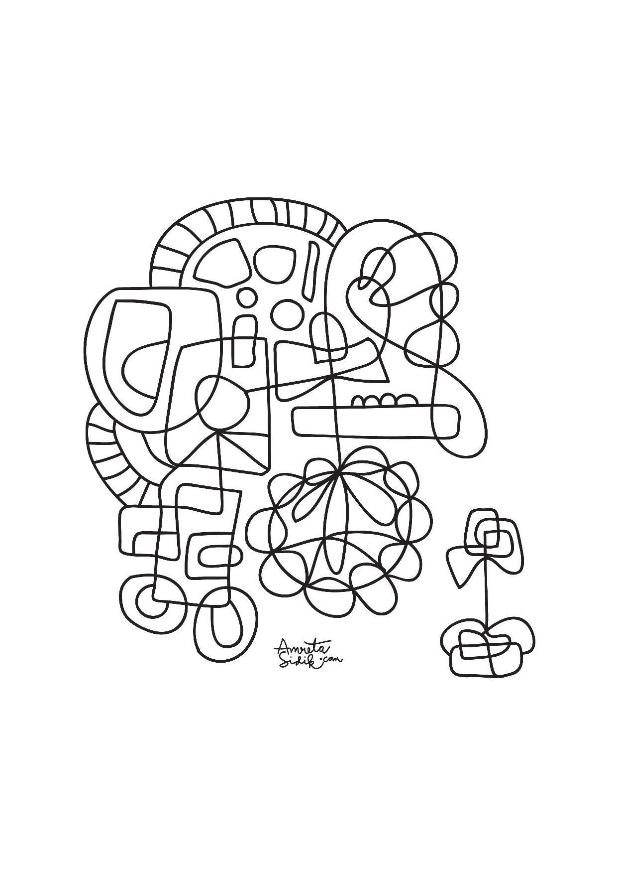 Coloriage Adulte A Imprimer Abstrait.Coloriage Adulte Abstrait Dans La Galerie Anti Stress
