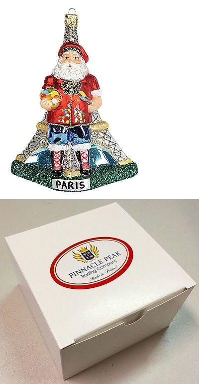 Ornaments 166725 Paris France Santa Polish Glass Christmas Ornament