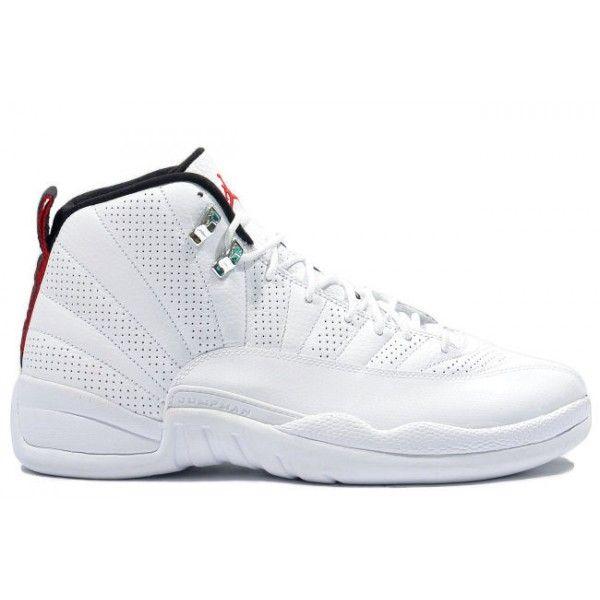 130690 163 Nike Air Jordan 12 Retro Anniversary White / Red / Black http:/