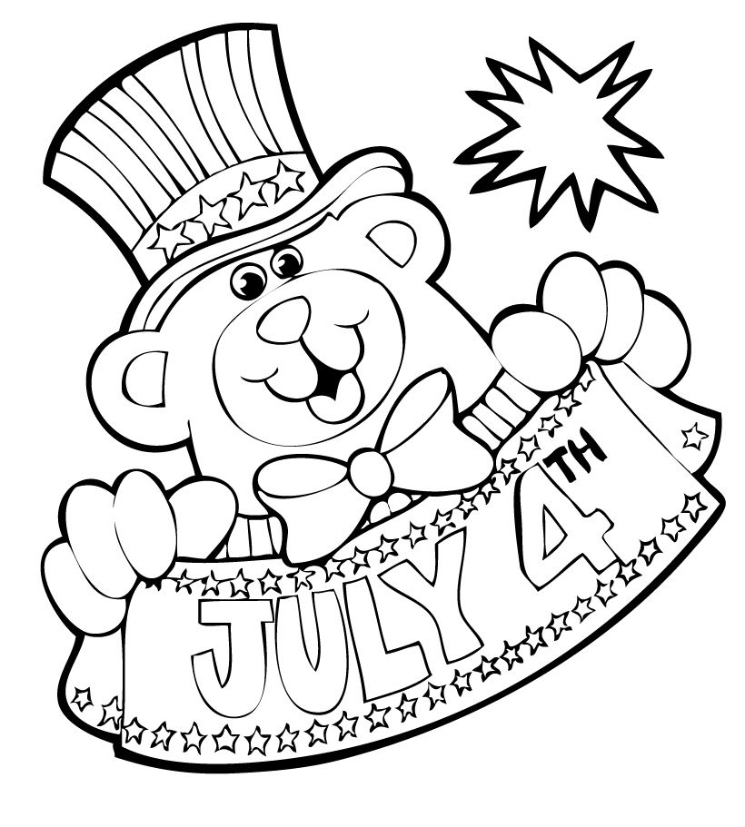 4th Of July Coloring Pages July Colors Fourth Of July Crafts For Kids Happy Fourth Of July
