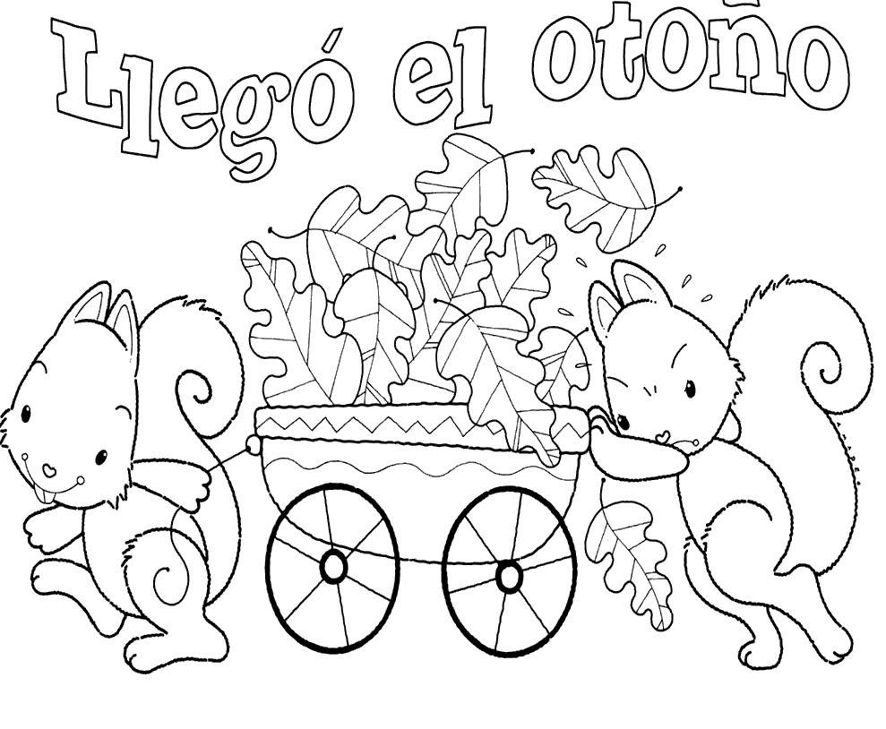 Dibujos Para Colorear En Otoño Escuela En La Nube Recursos Para