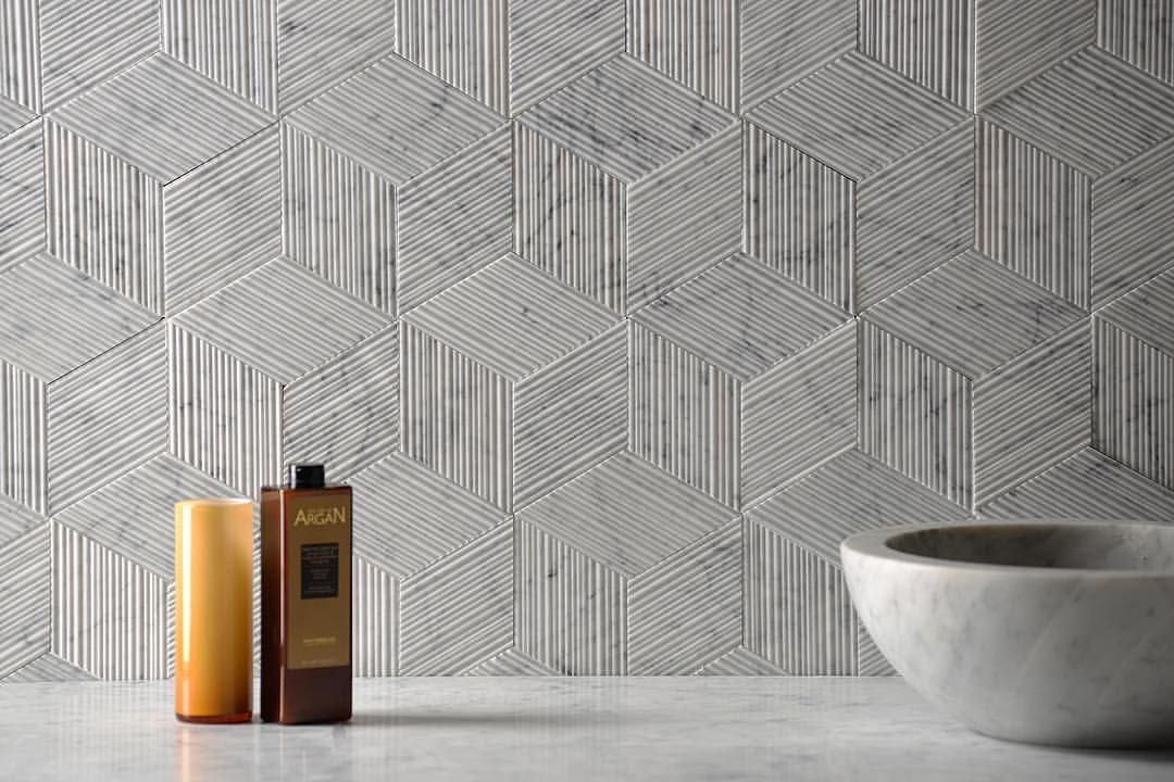 Yes To The Color And Texture Of This Backsplash So Modern And Cool Wall Patterns Wall Paneling Wall Treatments