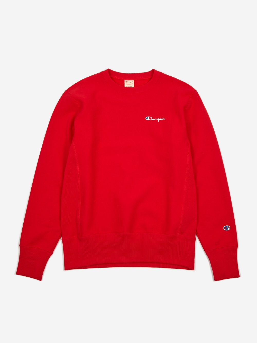 Champion Reverse Weave Small Script Crewneck Sweatshirt Red Red Champion Sweatshirt Crew Neck Sweatshirt Champion Clothing [ 1333 x 1000 Pixel ]