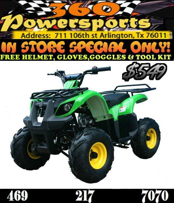 4 Wheelers For Sale Dallas Tx >> The ATA-125 D TaoTao 125cc Kids ATV. Sale Price: $549.00 ...