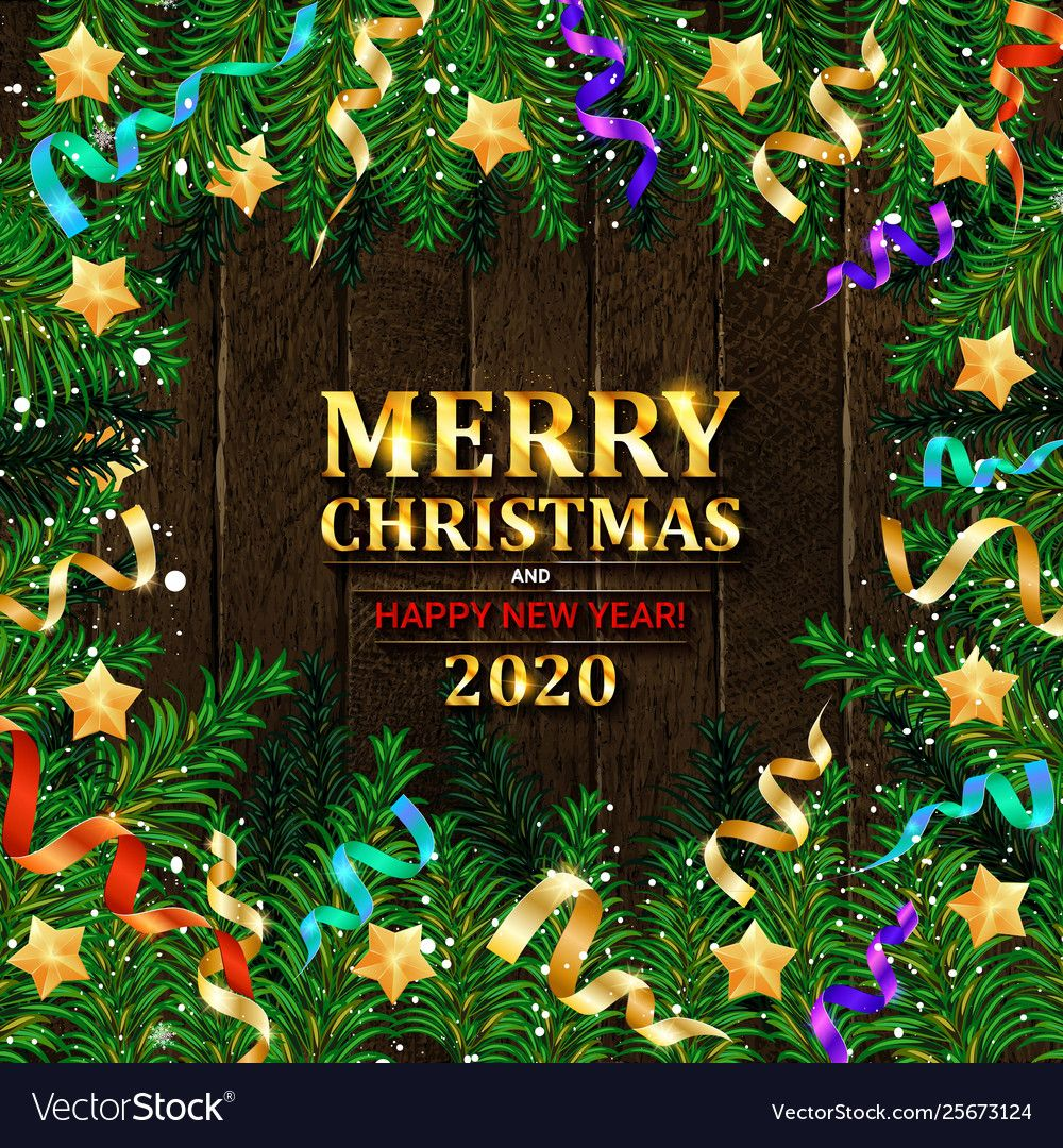 Very Christmas Ad 2020 Merry christmas and happy new year 2020 vector image on