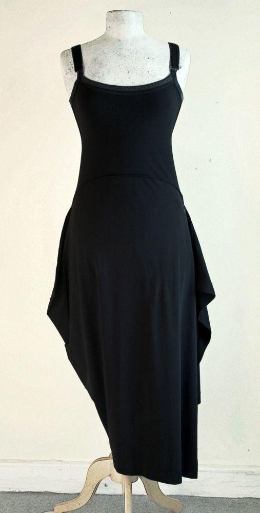 eb54dc059fe Marithé+François Girbaud vest top jersey dress+ geometric asymmetric panel  skirt #MarithFranoisGirbaud #Blackjerseydresswithvesttopshapedasymetr #Party